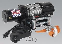 Sealey ATV2040 Atv/Quad Recovery Winch 2040Kg Line Pull 12V Recovery Winches