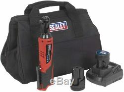 Sealey Battery Ratchet 3/8 Electric 12V Wrench Kit with 2 Batteries and Charger