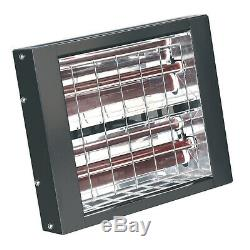 Sealey Wall Mounting 3000With230V Infrared Quartz Heater & Brackets IWMH3000