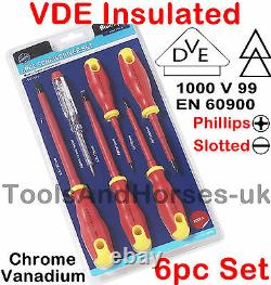 VDE Screwdriver Set & Circuit Voltage Tester 1000v Insulated Electrical Drivers