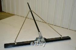 Vibrating Bull Float Electric Check Rod Packer Brothers Bullfloat 6.5' Screed