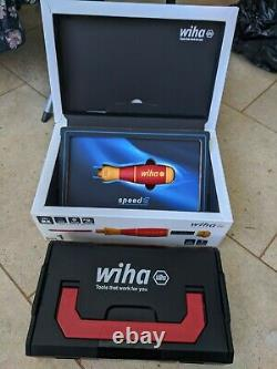 WIHA Speed E VDE Electric Insulated Screwdriver Set with blades